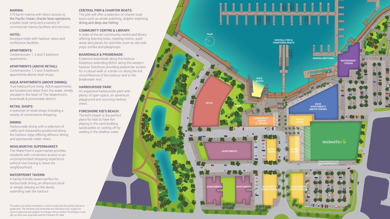 Town Centre Plan The Waterfront Shell Cove