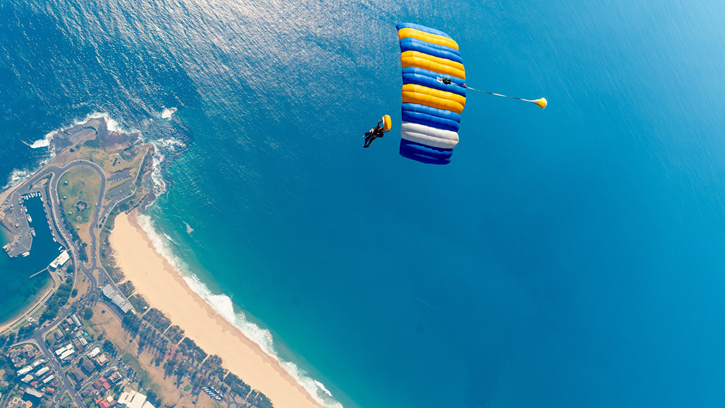 skydiving Shell Cove