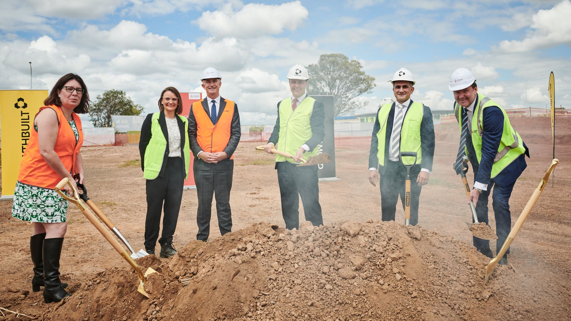 Ed.Square sod turning, 1 October 2019, Edmondson Park, Frasers Property Australia