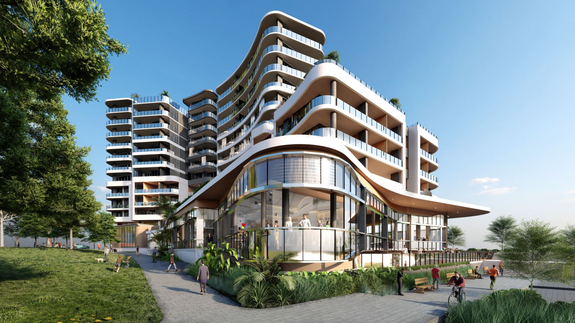 The Waterfront, Shell Cove Hotel by Oscars Hotel, Frasers Property Australia, Shellharbour City Council
