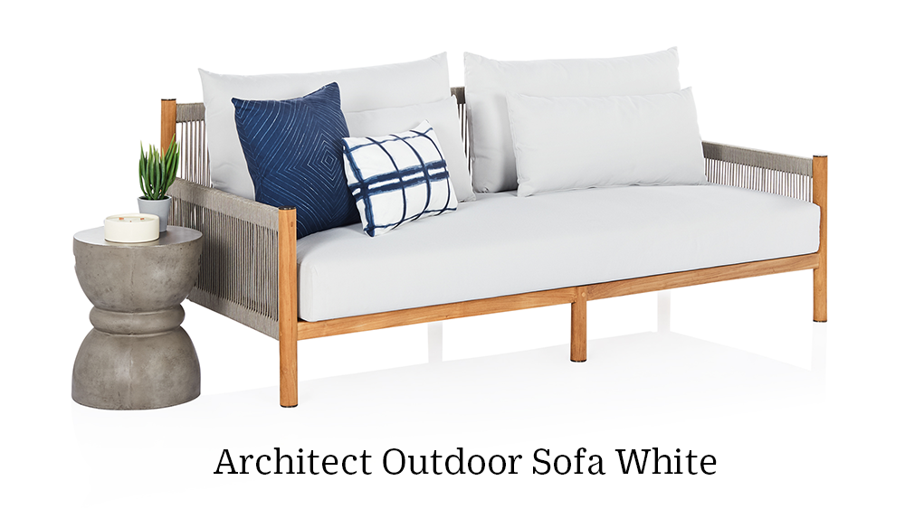Architect Outdoor Sofa White
