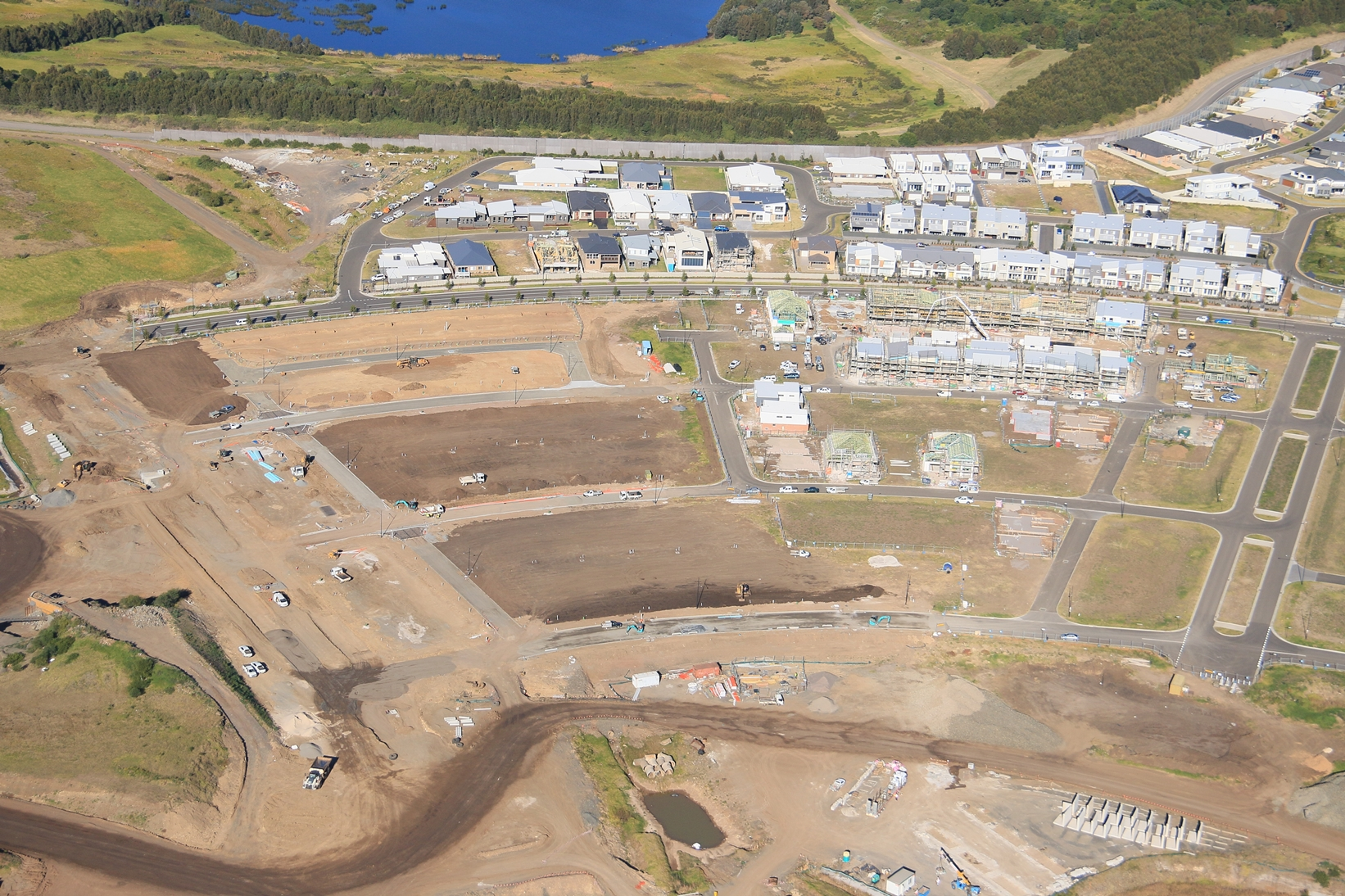 The Waterfront, Shell Cove boat harbour construction progress - July 2017