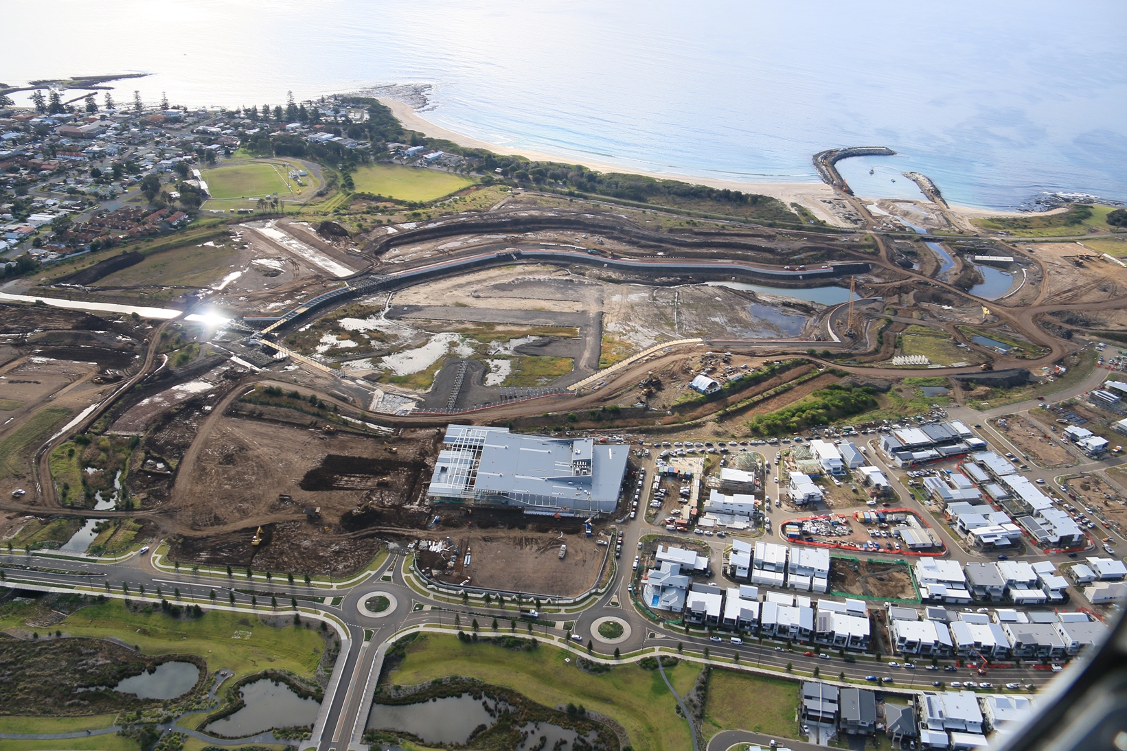 The Waterfront Construction Images Aerial June 2018
