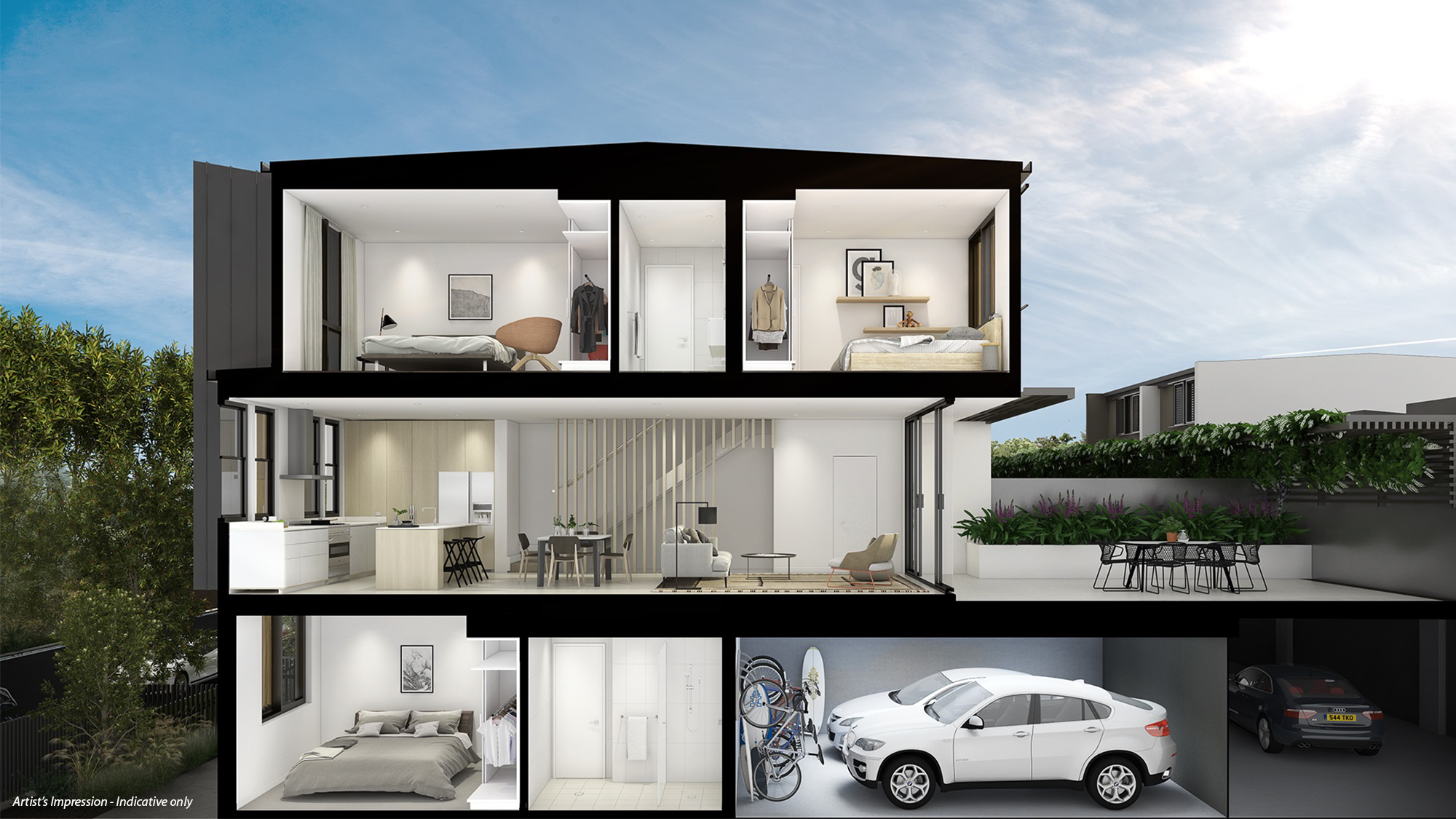 Banksia 3 Bed Terrace Sectional