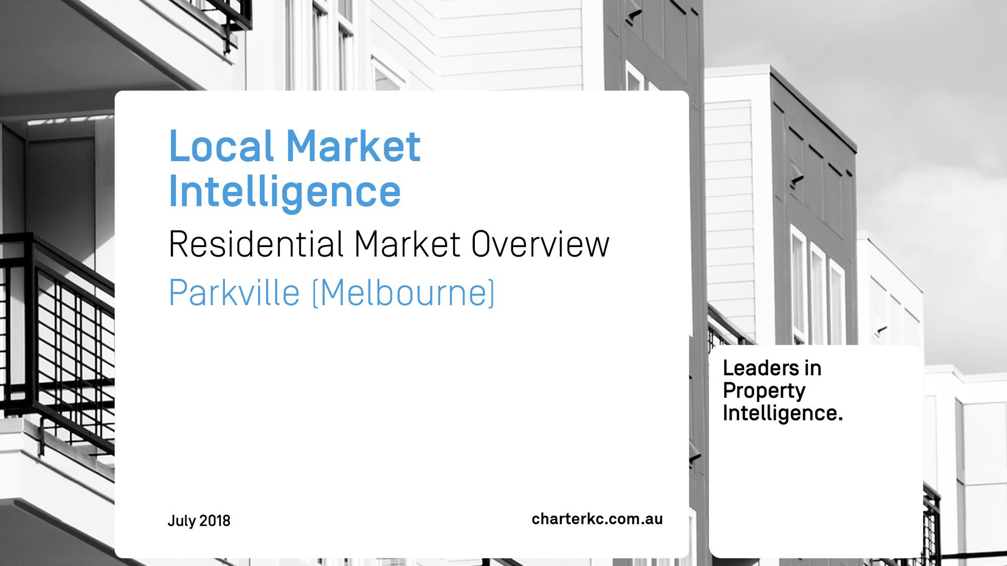 Local Market Intelligence Report